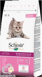 Schesir - DRY LINE Kitten пълноценна суха храна с пилешко месо, за малки котета от 1 до 12 месеца, 10 кг.