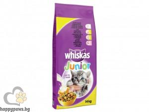 Whiskas - Chicken Junior суха храна с пилешко месо, за котенца от 1 до 12 месеца, 14 кг.