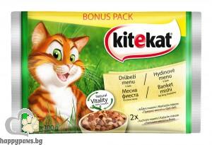Kitekat - Mix Pouch пауч за котета над 12 месеца, мултиопаковка, 4 х 100 гр.