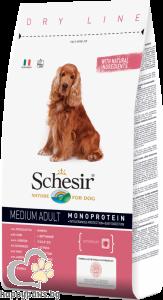 Schesir - DRY LINE MEDIUM Adult Maintenance пълноценна храна за кучета средни породи над 12 месечна възраст, различни вкусове, 3 кг.