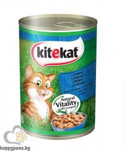 Kitekat - консервирана храна за котета над 12 месеца, 400 гр. различни вкусове