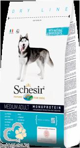 Schesir - DRY LINE MEDIUM Adult Maintenance пълноценна храна за кучета средни породи над 12 месечна възраст, различни вкусове, 12 кг.