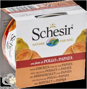 Schesir - Nature Exotic консервирана храна за кучета над 12 месеца, 150 гр. различни вкусове