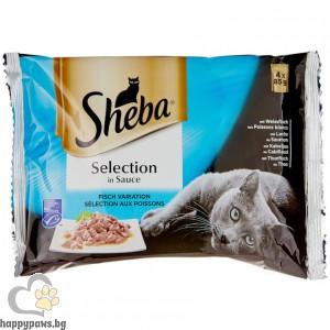 Sheba - Selection паучове микс за котета над 12 месеца, 4 x 85 гр.