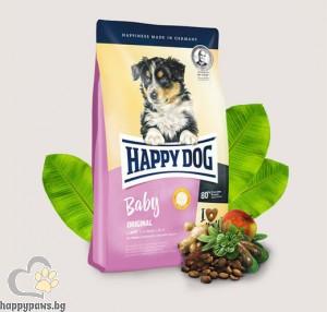 Happy Dog - Baby Original суха, пълноценна храна за кученца от 4 седмична до 6 месечна възраст, 4 кг.