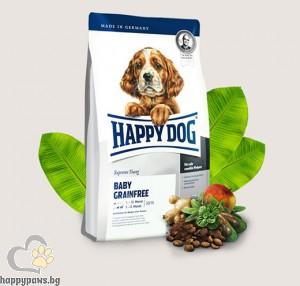 Happy Dog - Baby Grainfree суха, пълноценна храна за кученца от средни породи на възраст от 1 до 5 месеца, 10 кг.