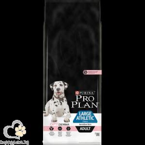 PURINA PRO PLAN - OPTIDERMA суха храна за кучета над 12 месеца от едри и атлетични породи, с чувствителна кожа, с вкус на сьомга, 14 кг.