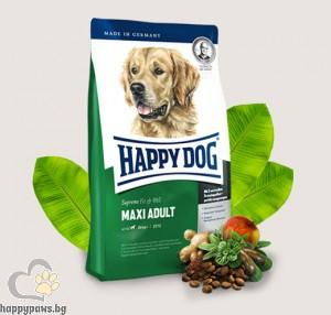 Happy Dog - Adult Maxi суха храна за кучета големи и гигантски породи, над 18 месеца, с пилешко, агнешко и говеждо, 12 кг.