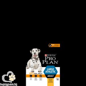PURINA PRO PLAN - OPTBALANCE суха храна за кучета в зряла възраст от едри атлетични породи, с вкус на пиле, 14 кг.