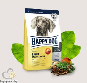 Happy Dog - Light Calorie Control суха храна за израснали кучета с тегло над 11 кг. и ниска потребност от енергия, 12 кг.