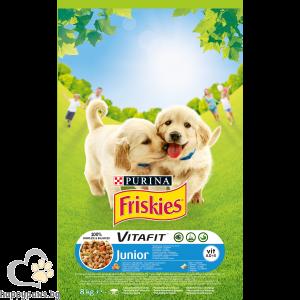 PURINA - FRISKIES JUNIOR суха храна за малки кученца, с пиле, мляко и зеленчуци, 15 кг.