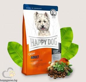 Happy Dog - Adult Mini суха храна за малки породи кучета до 10 кг., и възраст над 12 месеца, с пилешко и агнешко, 4 кг.