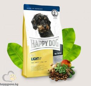 Happy Dog - Adult Mini Light суха храна за кучета с наднормено тегло и кастрирани кучета малки породи над 10 месеца, с агнешко и пилешко месо, 1 кг.