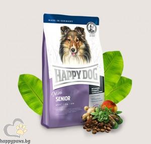 Happy Dog - Senior Mini суха храна за кучета малки породи над 8 години, с пилешко и агнешко месо, 4 кг.