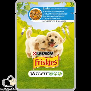 PURINA - FRISKIES пауч за малки кученца до 12 месеца, с пиле и морков, 100 гр.