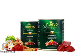 Nuevo - Dog Adult консервирана храна за кучета над 12 месеца, 400 гр. различни вкусове