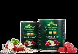 Nuevo - Dog Senior консервирана храна за кучета над 7 години, агнешко и говеждо, 800 гр.