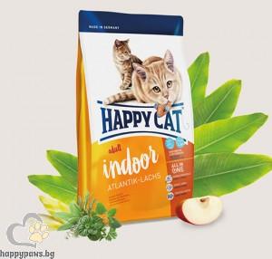 Happy Cat - Indoor суха храна за котки над 12 месеца с намалена физическа активност, различни вкусове, 4 кг