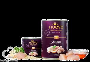 Nuevo - Cat Kitten консервирана храна с пилешко месо и масло от сьомга, за котенца от 1 до 12 месеца, 400 гр.