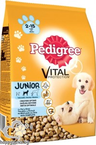 Pedigree - Junior суха, пълноценна храна за кучета от 2 до 12 месеца, средни породи, 0.5 кг.