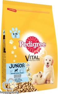 Pedigree - Junior суха, пълноценна храна за кучета от 2 до 12 месеца, средни породи, 3 кг.