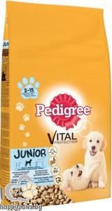 Pedigree - Junior суха, пълноценна храна за кучета от 2 до 12 месеца, дребни породи, 0.400 кг.