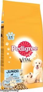 Pedigree - Junior суха, пълноценна храна за кучета от 2 до 12 месеца, средни породи, 15 кг.