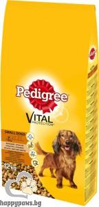 Pedigree - Mini Adult суха, пълноценна храна за кучета с тегло до 10 кг., с пилешко месо и зеленчуци, 12 кг.