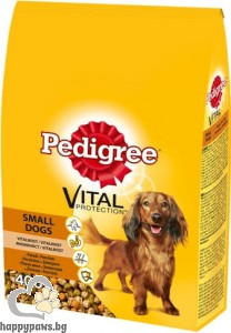 Pedigree - Mini Adult суха, пълноценна храна за кучета с тегло до 10 кг., с пилешко месо и зеленчуци, 0.400 кг.