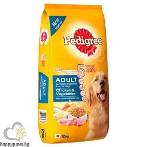 Pedigree - Adult суха, пълноценна храна за кучета над 12 месеца, средни и големи породи, различни вкусове, 15 кг.