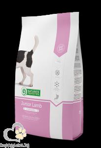 Natures Protection - Junior Lamb суха храна селектирана формула с вкусно агнешко за подрастващи кучета от всички породи от 2 до 18 месеца, 7.5 кг.