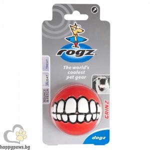 "Rogz - Grinz Ball забавна, мека ""смееща се топка"", различни размери и цветове"
