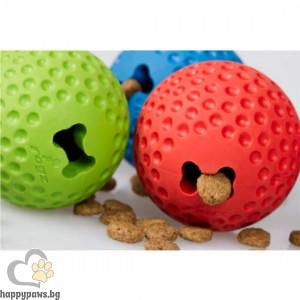 Rogz - Gumz Ball топка за лакомства и игра със защита от нараняване на зъбите, различни размери и цветове