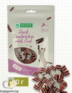 Natures Protection - Snack деликатесно лакомство за котета над 12 месеца, различни вкусове, 80 гр.