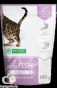 Natures Protection - пауч с риба за израснали котки с чувствителна храносмилателна система, 100гр