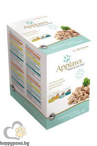 Applaws - Mixed Variety Jelly Pouch Multipack комбинирани паучове за котета над 12 месеца, 12 х 70 гр. различни вкусове