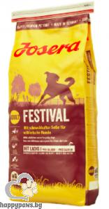 Josera - Festival Gluten Free суха храна за израснали кучета от всички породи с пиле и сьомга, 15 кг.