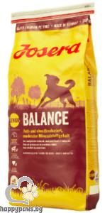Josera - Balance Gluten Free суха храна за слабо активни кучета в напреднала възраст с пилешко и ориз, 900 гр.