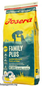 Josera - Family Plus Gluten Free суха храна за бременни и кърмещи кучета с птиче месо и риба, 15 кг.