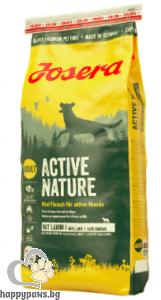 Josera - Active Nature Grain Free суха храна за израснали кучета с агнешко и ориз, 15 кг.