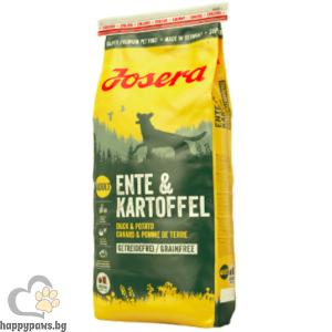 Josera - Duck & Potato Grain Free суха храна за израснали кучета с патица и картоф, различни разфасовки.