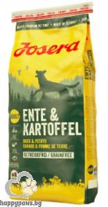 Josera - Duck & Potato Grain Free суха храна за израснали кучета с патица и картоф, 15 кг.