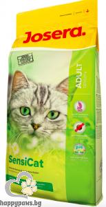 Josera - Sensicat суха храна за израснали котки с чувствителна храносмилателна система с птиче месо, 400 гр.