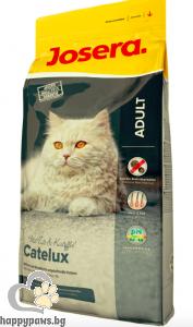 Josera - Catelux суха храна за израснали котки предразположени към образуването на космени топки с патица, 2 кг.