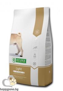 Natures Protection - Dog Light суха, нискокалорична диета за израстнали кучета от всички породи, 4 кг.