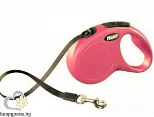 Flexi - Classic S - автоматичен повод за куче до 12 кг. различни цветове, лента 5 метра
