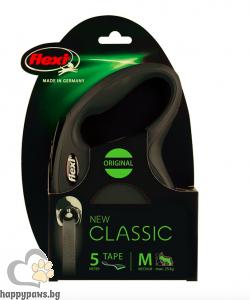 Flexi - Classic M - автоматичен повод за куче до 20 кг. различни цветове, лента 5 метра