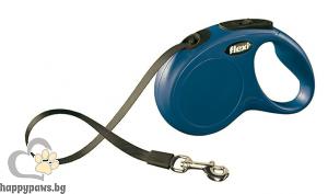 Flexi - Classic М - автоматичен повод за куче до 25 кг. различни цветове, лента 5 метра