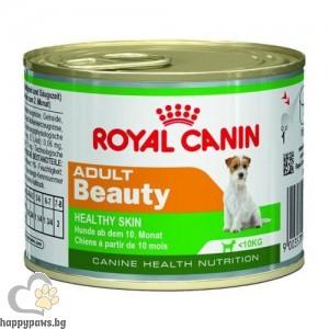 Royal Canin - Adult Beauty консервирана храна за кучета от дребните породи с чувствителна кожа, над 10 месечна възраст, 195 гр.