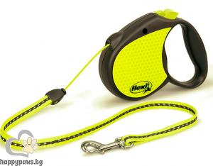 Flexi - Neon различни размери автоматичен повод за кучета, въже 5 метра